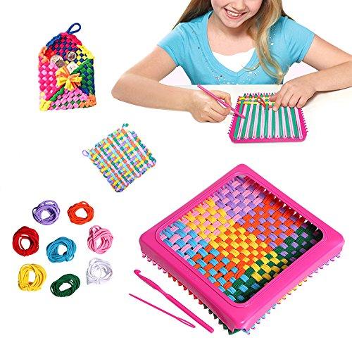 Per Children DIY Knitting Kit Stretchy Loops Potholder Loom Set Innovative Handmade Toys For Kids Knitting Kit