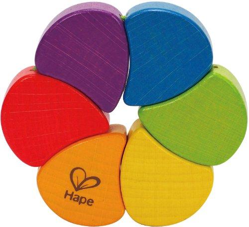 Hape - Rainbow Wooden Rattle