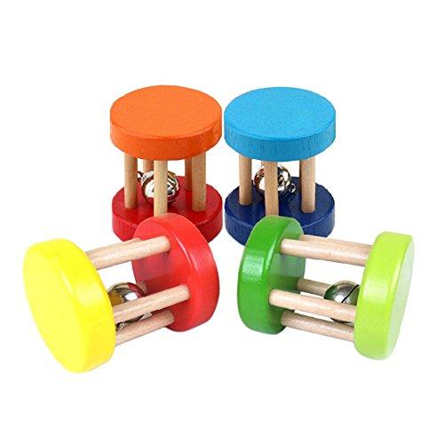 Wooden Toys Rattles Baby Kid Children Intellectual Developmental Educational Toys