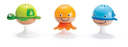 Hape Put-Stay Rattle Set  Three Sea Animal Suction Rattle Toys Baby Educational Toy Set