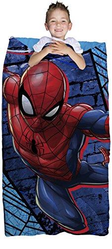 Marvel Spiderman Blue Thwip 2 Piece Childrens Slumber Bag - 30 x 54