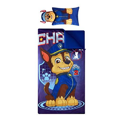 Paw Patrol 2pc Slumber Sleeping Bag and Chase Pillow Set