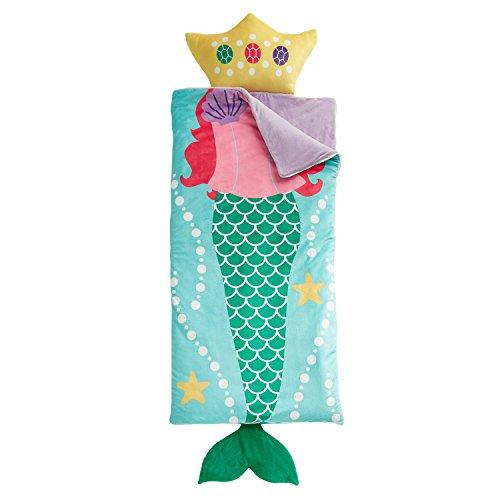 dream FACTORY Mermaid Dreams Ultra Soft Slumber Sleeping Bag 27 x 53 Light Blue