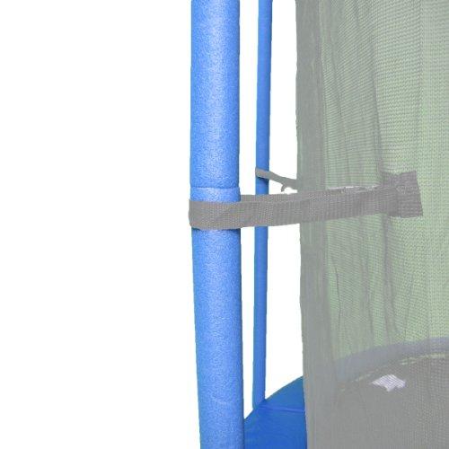 Upper Bounce 44-Inch Trampoline Pole Foam Sleeves Fits for 15-Inch Diameter Pole Set of 16 Blue