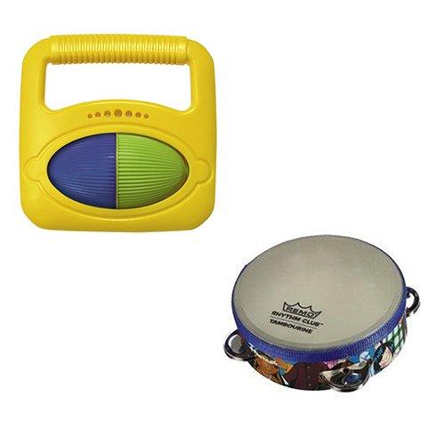 Toddler Music Toys Rhythm Fine Motor Skills Toys - Hohner Musical Shapes Square  Remo Rhythm Club Tambourine