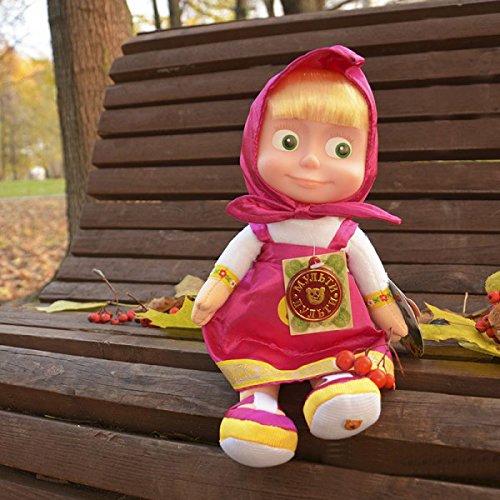 Soft toy Masha sings and talks11 inches Masha and the bear toys Masha y el oso russian doll Masha best choice for birthday
