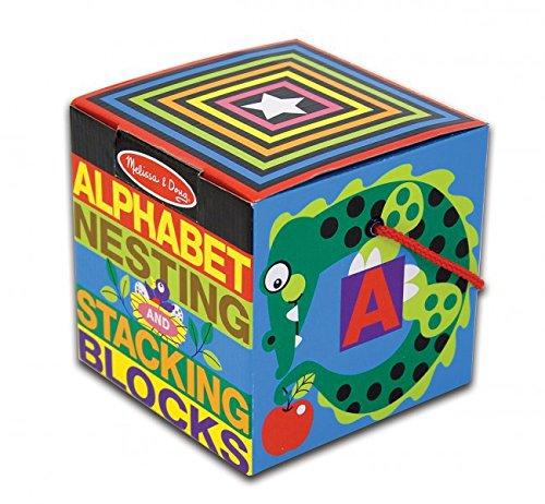 English alphabet nesting and stacking blocks