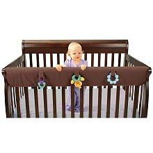 Leachco Easy Teether XL - Crib Rail Cover For Convertible Cribs - Chocolate by Leachco