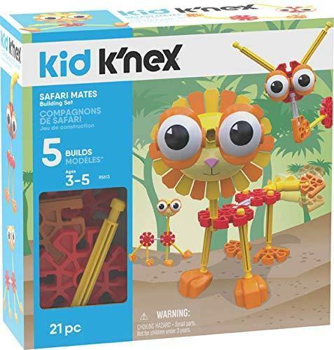 Knex Kid Safari Mates Building Set - 21 Pieces - Ages 3 - Preschool Educational Toy