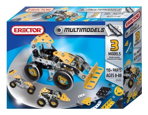 Erector Multimodel 3 Model Set 110 Pieces