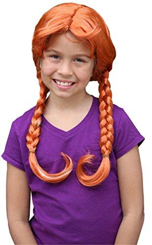 Wendys Wig Toddler Princess Anna Wig For Kids Princess Anna Wig for Girls