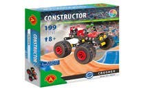 Alexander Toys Constructor Crusher Big Wheel Monster Truck Pure Metal Construction Model Building Kits Fully Compatible with Erector meccano and Other Metal Construction Sets and STEM Toys