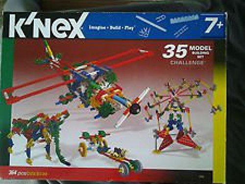 Original KNEX 35 Model Building Set -- Challenge -- 364 Pcs
