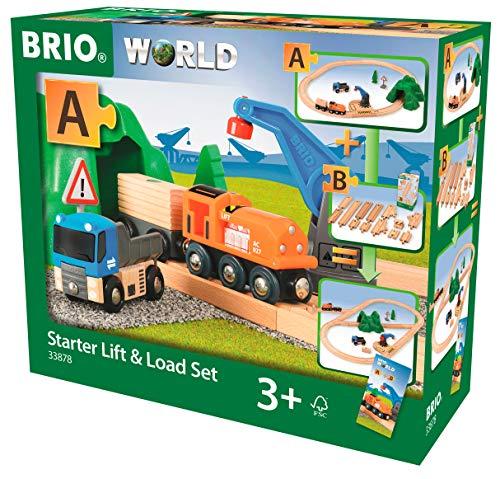BRIO Starter Lift&Load Set Wooden Toy Train Multi
