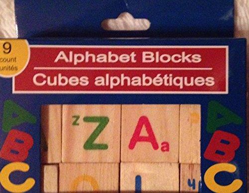Alphabet Wooden Blocks 9 Count