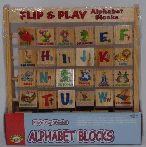 Flipn Play Wooden Alphabet Blocks