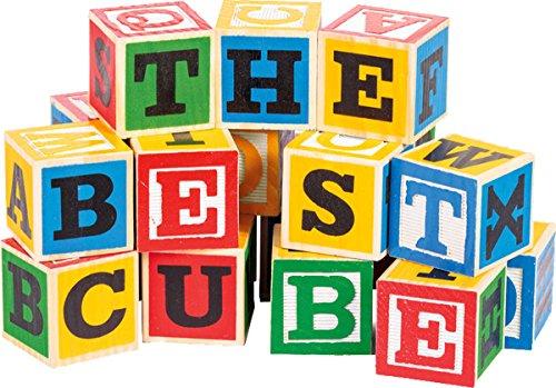 Kids Classic Educational Large Abc Alphabet Wooden Blocks Toy 195cm Box Of 48
