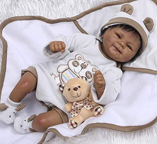 NPKDOLLS Native American Indian Reborn Baby Dolls African American Black Boy 18 Reborn Doll Realistic Newborn Baby Doll Vinyl Silicone