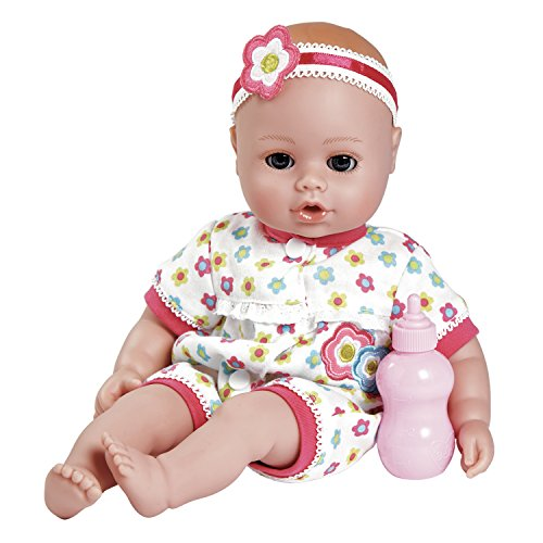 Adora PlayTime Baby Blossom Vinyl 13 Girl Weighted Washable Cuddly Snuggle Soft Toy Play Doll Gift Set with OpenClose Eyes for Children 1 Includes Bottle