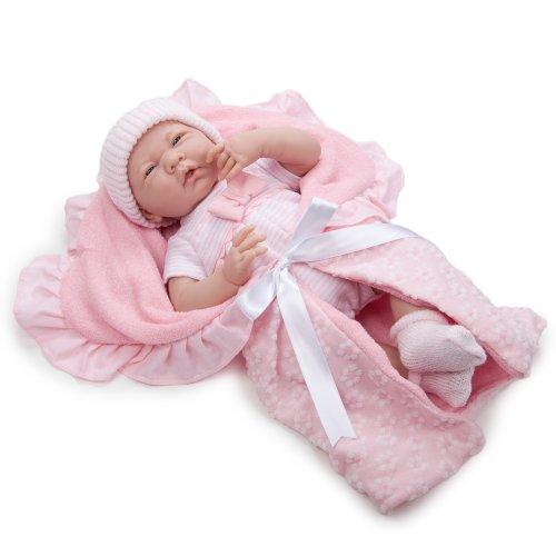 JC Toys 18780 La Newborn Soft Body Boutique Baby Doll 155-Inch Pink