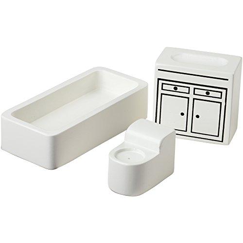 Kids Hardwood Doll House Furniture - Bathroom