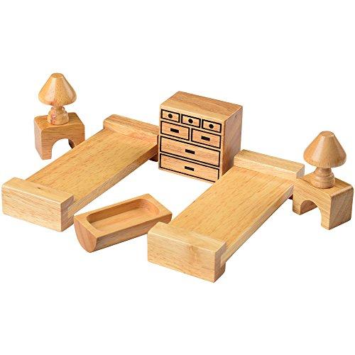 Kids Hardwood Doll House Furniture - Childrens Bedroom
