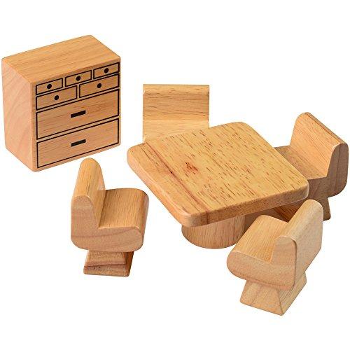 Kids Hardwood Doll House Furniture - Dining Room