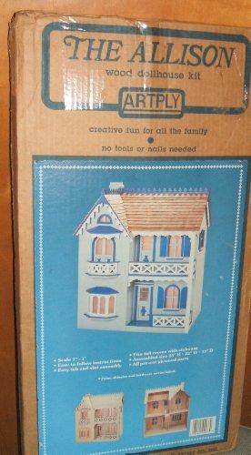 Vintage Dollhouse  The Allison  Wooden Doll House Kit - Model No 77