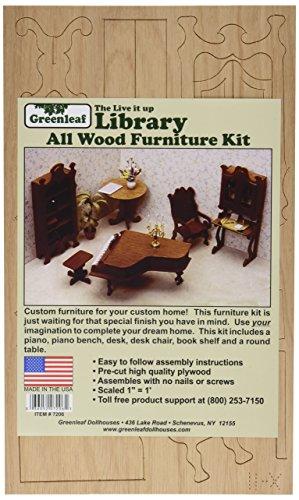 Greenleaf Dollhouse Furniture Kit-Library