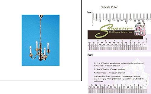 Dollhouse 4-arm Chandelier with bi-pin Bulbs 12 V