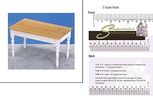 Dollhouse Miniature Kitchen Table Oakwhite