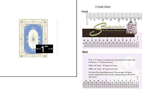 Dollhouse Rug Aubusson Blue 14 Scale