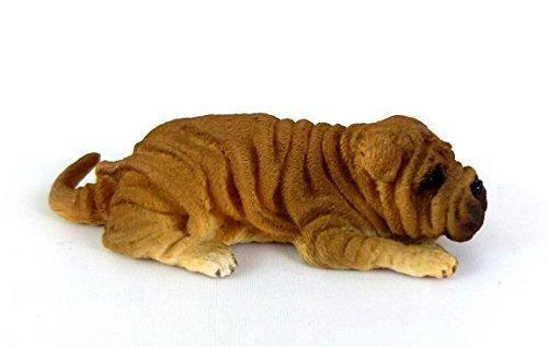 Falcon Miniatures Dolls House 112 Scale Miniature Animal Pet Dog Shar Pei Lying Down