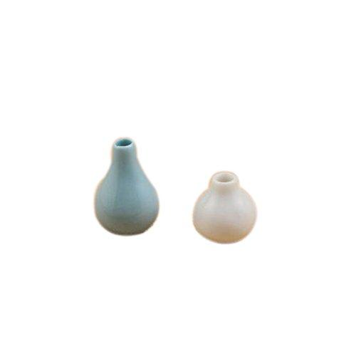 Dimart Happy Family 2 Pcs Vase Porcelain - 112 Dollhouse Miniature Furniture - Blue&White