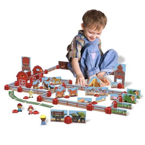 Sprig Toys Blocks Ol Macs Barnyard Playset