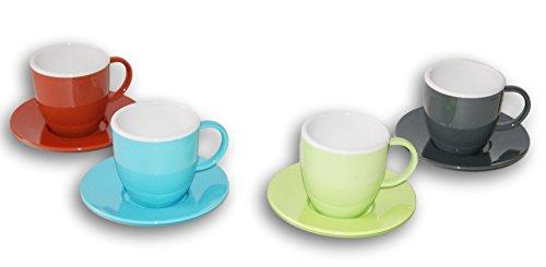 Kids Play Kitchen Toys Coffee Mug Tea Cup Saucer Set - 8 Pc