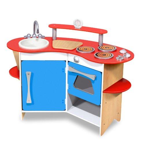 Melissa Doug Cooks Corner Wooden Play Kitchen