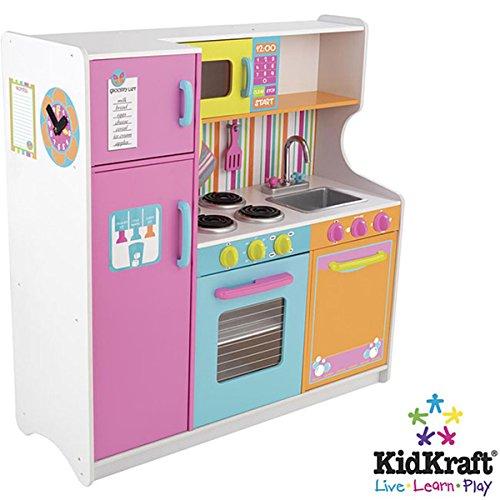 KidKraft Big Bright Deluxe Kids Pretend Play Kitchen Toy Set  53100