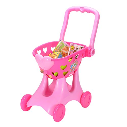 FunsLane Kids Cute Shopping Cart Toy for Pretend Play Games