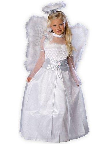 Rubies Girls Angel Dress  Wings Kids Halloween Costume 3-4 Yr