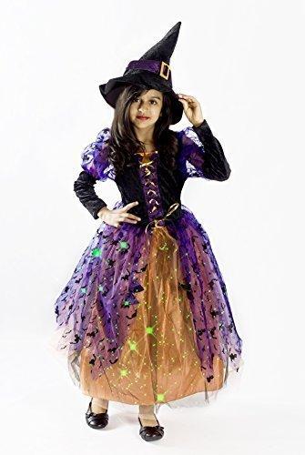 Witch Halloween Costume Girls M 6-8