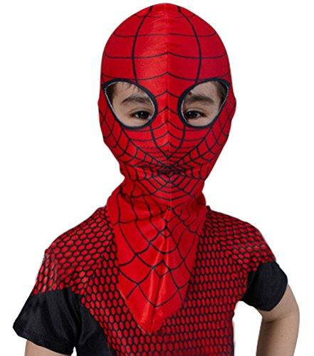 Costume Kids Amazing Spiderman Costume Hood Overhead Mask Red One Size
