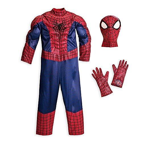 Disney Store Deluxe Amazing Spiderman Spider Man Costume Halloween XXS 2 2T