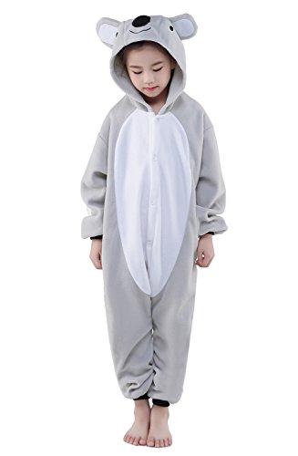 CANASOUR Polyster Halloween Kids Animal Costumes Cosplay Pajamas 10125 Koala Grey