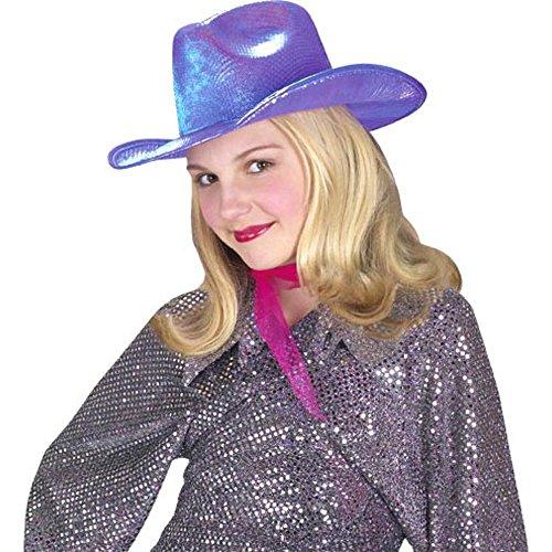 Purple Diva Cowgirl Costume Hat