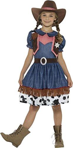 Sportsgear US Texan Cowgirl Costume Blue Medium Age 7-9