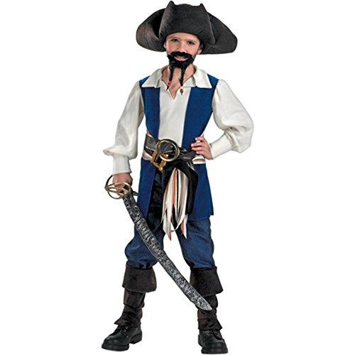 Kids Jack Sparrow Pirate Halloween Costume Size Medium 8-10