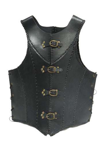 Black Faux Leather Jacket Medieval Costume
