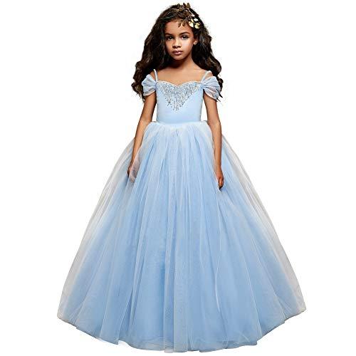 Cinderella Dress Princess Costume Halloween Party Dress up 2-3y Blue 2