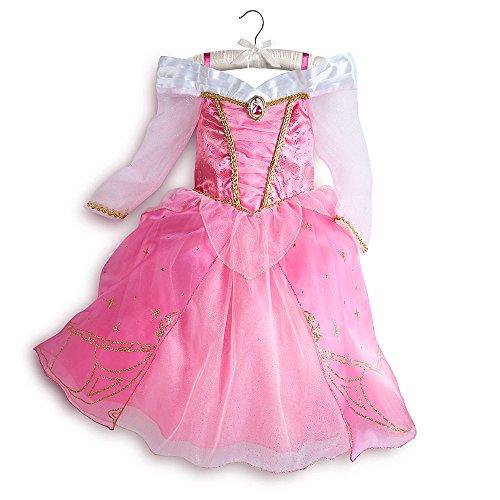 Disney Store Aurora Sleeping Beauty Costume Dress Halloween Size S Small 5 - 6 5T